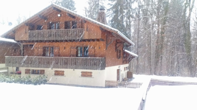 Chalet Milou in snow